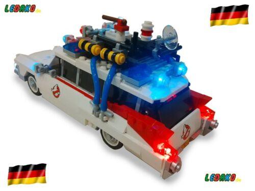 LED– Beleuchtungs-Set für das LEGO®Set  GHOSTBUSTERS ECTO-1 ledako 21108