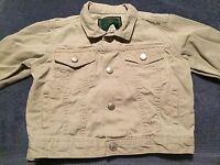 Baby Gap Boys Khaki Denim Jacket Size 12-18 Months