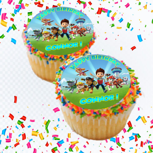 Paw Patrol Edible Icing Image Cake or Cupcake Topper Party Decoration
