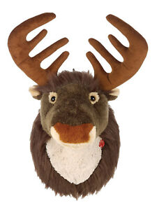 Reindeer Head Soft Plush Wall Hanging