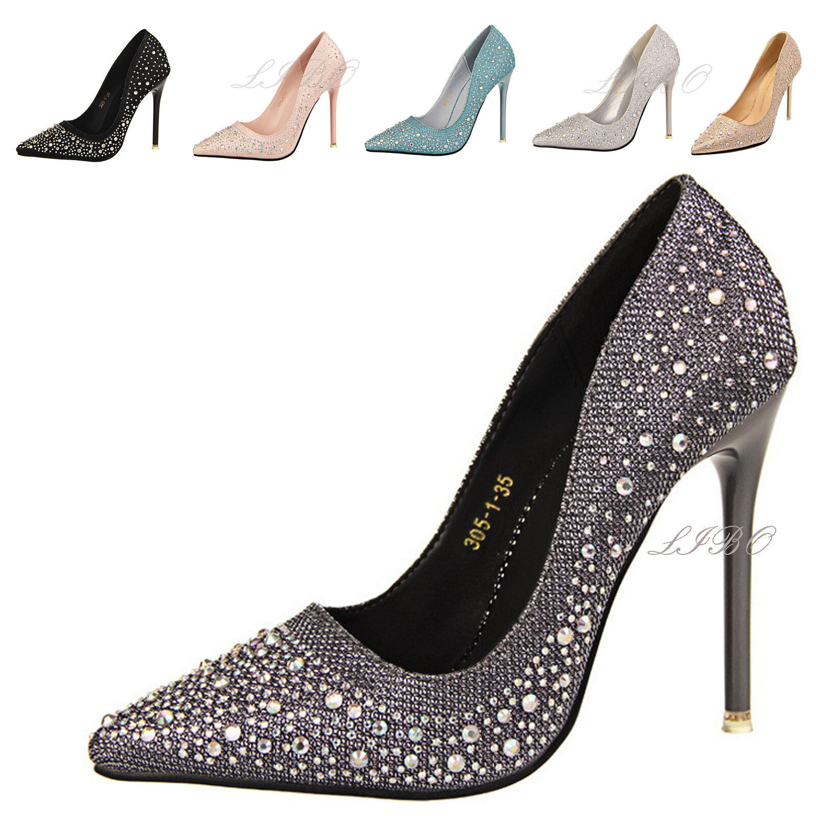 Sexy Womens Adult Rhinestone Shoes Platform Stiletto High