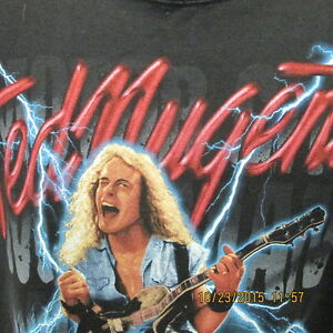 Ted Nugent Motor City Mad Man Tour 1999 Black S S Xxl