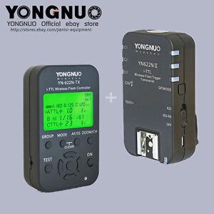Yongnuo TTLYN622N-TX +SINGLE YN-622NII flash trigger with 2 cables for Nikon