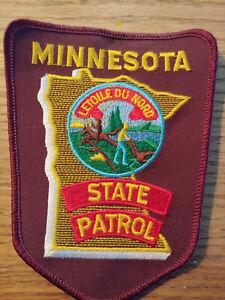 "/""MINNESOTA/"" STATE PATROL POLICE PATCH BRAND NEW"