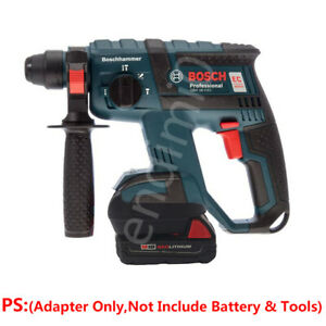1x-Milwaukee-M18-RED-Li-ion-Batteries-To-BOSCH-18V-Hammer-Cordless-Tools-Adapter