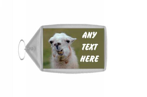 Funny Llama Personalised Keyring