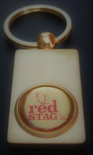 JIM BEAM RED STAG Whiskey Ingot Type Gold FINISH KEY RING post free in UK