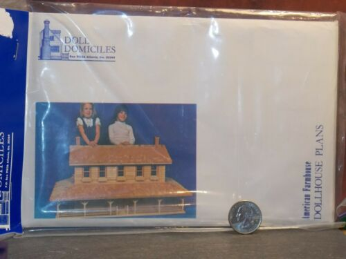 Dollhouse Architect Plans To Build Your Own House 1:12 scale D24 Dollys Gallery