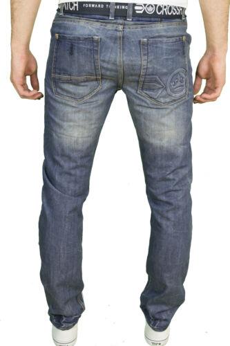 BNWT Crosshatch Mens Regular Straight Leg Classic Fit Jeans w// Belt
