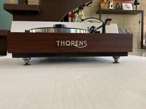 thorens-TD166-MKII-with-Brazilian-walnut-Plinth-with-logo-and-many-upgrades