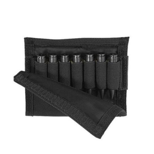 Tactical Buttstock Cheek Rest Riser Rifle Pad Ammo Carteidge Carrier Case Holder