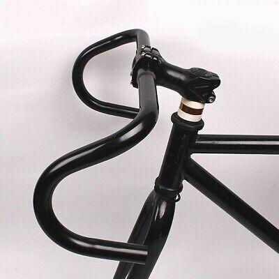 25.4mm Road Bike Racing Ride Handlebar Steel Drop Bar Bicycle Parts Black//Silver