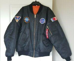 2xl excelente Logic Space Black Nasa Xxl Bomber ✌ condición Patch Jacket wnnAYqxpFa