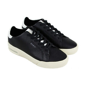 Radii-Square-FM1100-Mens-Black-Casual-Lace-Up-Low-Top-Sneakers-Shoes