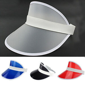 d4665cc2569 Hot Fashion Plain Visor Outdoor Adjustable Sun Cap Sport Golf Tennis ...