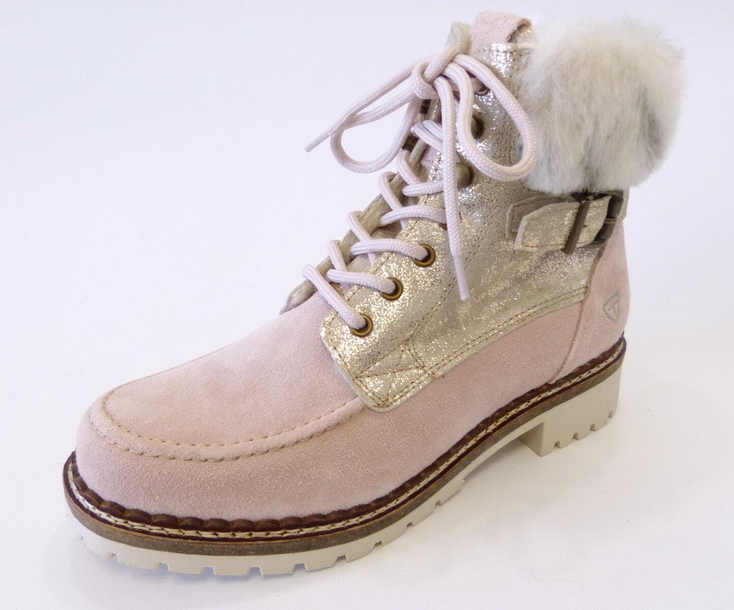 Tamaris Stiefel Stiefel 26076 554 light Rosa Rosa warm  Wolle Futter Nubuk Leder      Großhandel