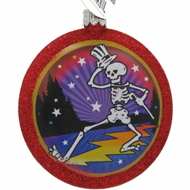 "LICENSED KSA 4/"" GRATEFUL DEAD DANCING BEAR BLUE CHRISTMAS HOLIDAY ORNAMENT"