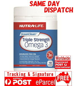 Nutra life triple strength omega 3 150 capsules for Viva naturals triple strength omega 3 fish oil