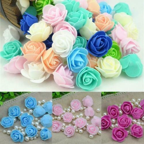 Foam Rose Heads Bride DIY Wedding Bouquet Decor Artificial Flower Head 0046