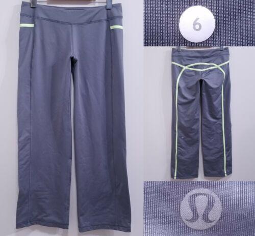 Lululemon Lime Green Stripe Pants Size 6 Small Yog