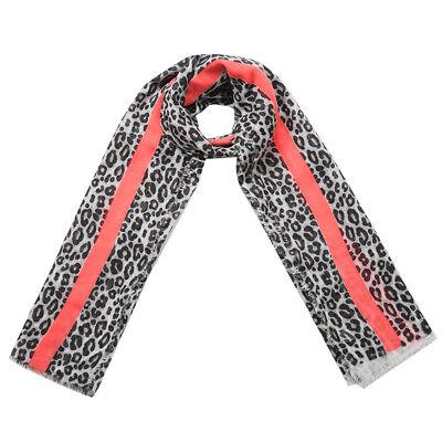 Large Animal Leopard Print Large Crinkle Shawl Scarf  Hijab T9