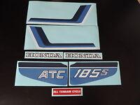 1983 Honda Atc 185s Three Wheeler Gas Tank And Fender Decal Set