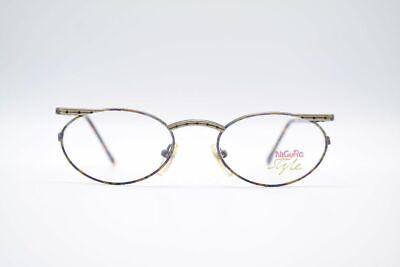 Vintage Nigura N0103 50[]20 135 Gold Bunt Braun Oval Brille Eyeglasses Nos