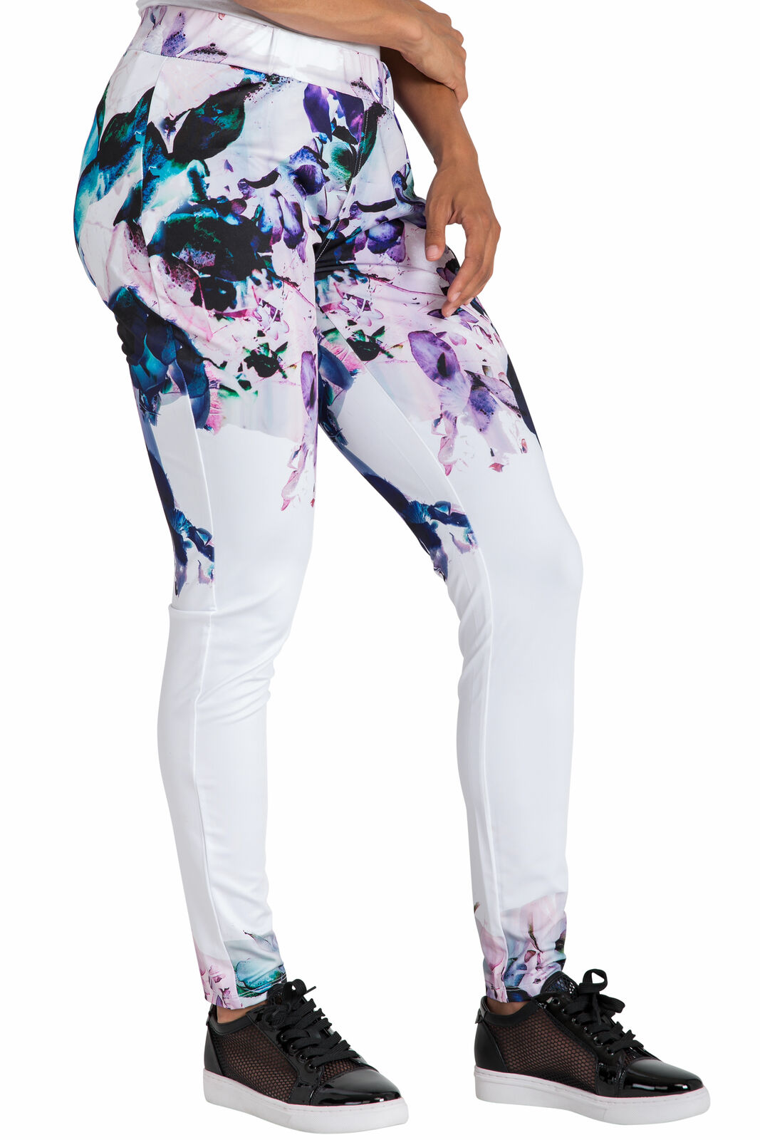 Poetic Justice Active Floral Print Poly Tricot Legging
