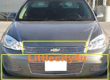 For 2006~2012 Chevy Impala LT Billet Grille Combo 2PC UPPER 3PCS BUMPER