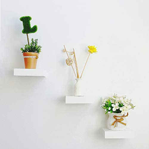 Set Of 3 Small Size Floating Wall Shelf 4 Inch Showcase White For Sale Online Ebay