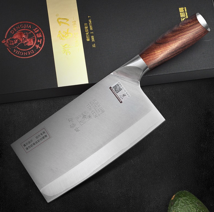 Handmade Cleaver Cleaver Cleaver Knife Forged Steel Polished Wood Handle 60 HRC Japanese Chef xL 593610