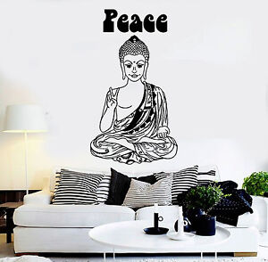 Image Is Loading Vinyl Wall Decal Hippie Buddha Peace Buddhism Pacifism