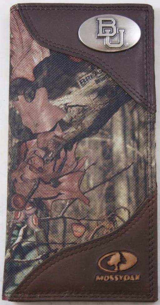 ZEP-PRO Baylor Bears Roper Leather & Nylon MOSSY OAK Camo Wallet NO BOX