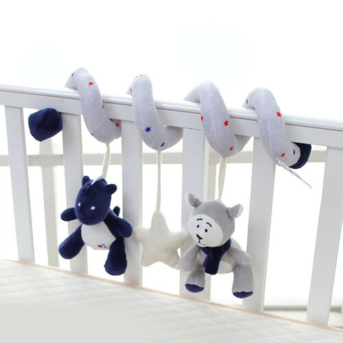 UK Baby Crib Cot Pram Hanging Rattle Spiral Stroller Car Seat Pushchair Toy Bell