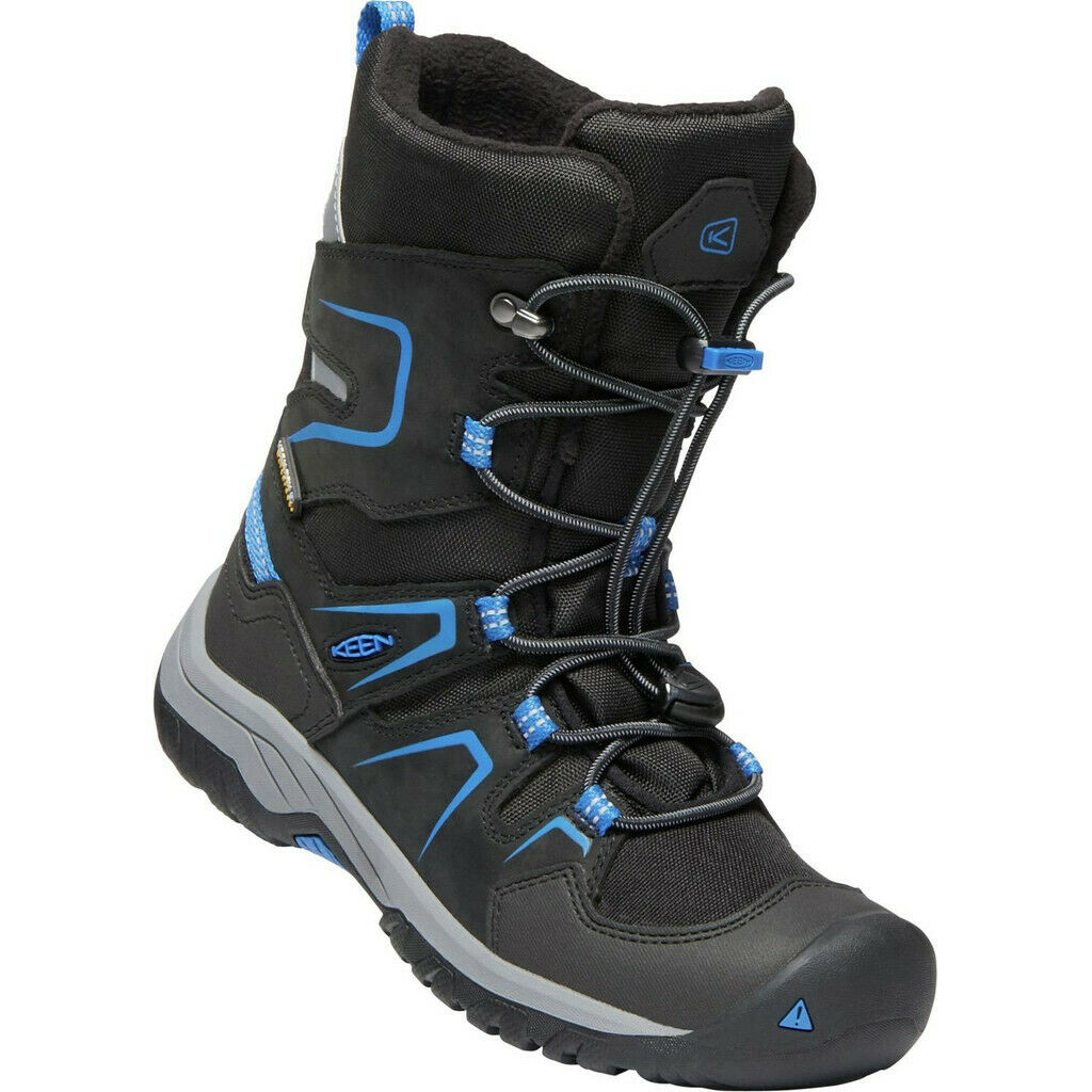 Keen Levo WP Shoes Jugend black/baleine blue 2019 Schuhe schwarz