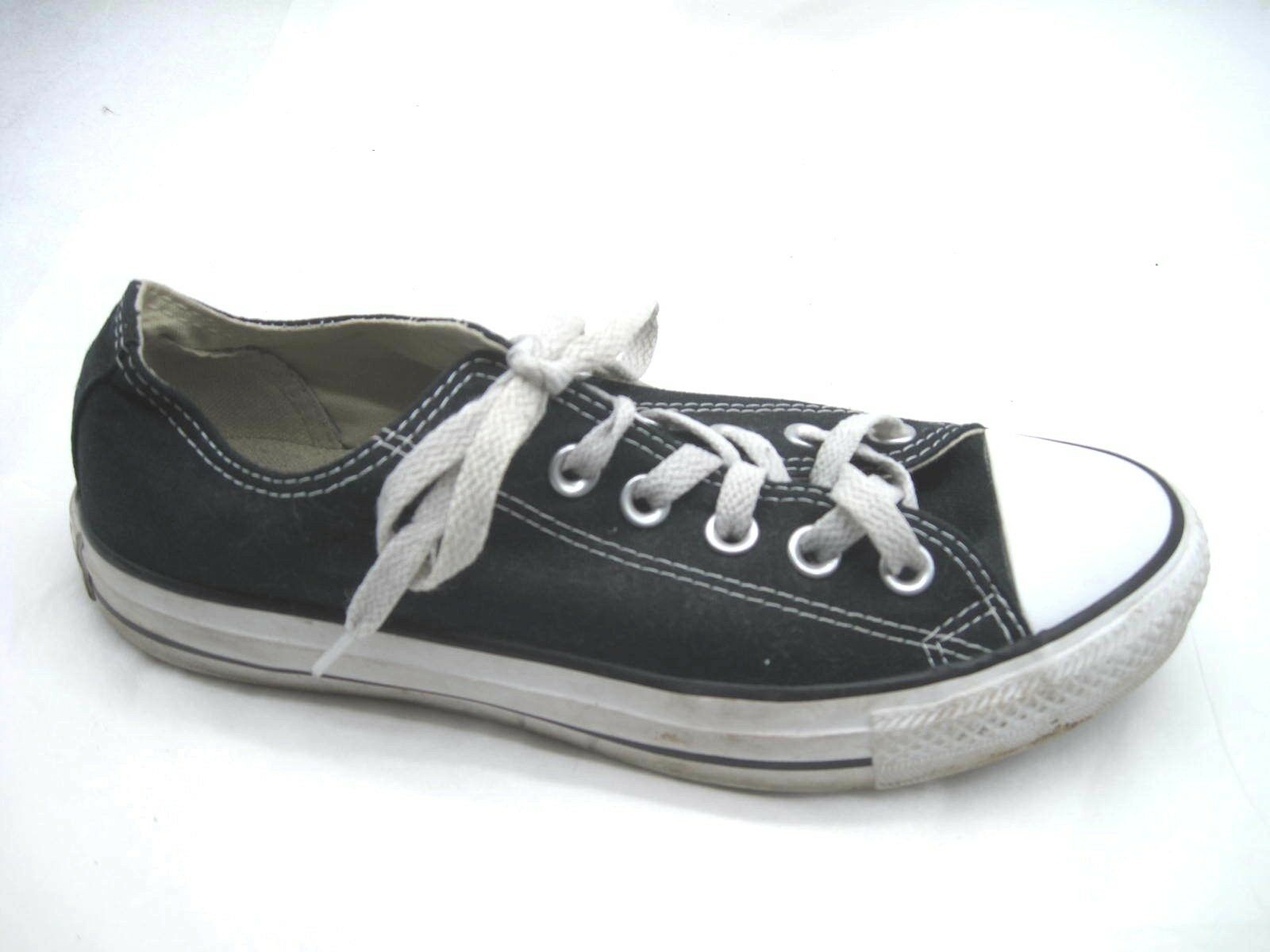 Converse All Star black womens canvas 7M sneakers lowtops tennis shoes M9166