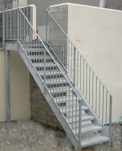 Image Is Loading Steel Stairs Fire Escape Custom Made To Order