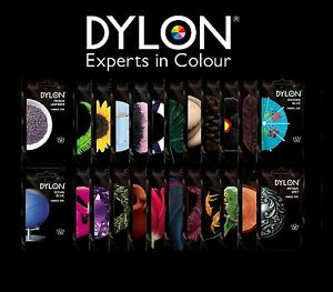 DYLON-50g-HAND-DYES-FABRIC-amp-CLOTHES-DYE-WASH-ALL-COLOURS-diy-costume