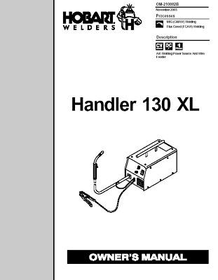 HOBART HANDLER 130 XL GUN OWNERS MANUAL   eBay