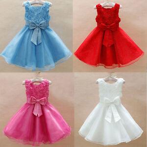Princesa-Infantil-Nina-Bebe-Dama-Honor-Floral-Vestido-De-Fiesta-Tutu-Disfraz
