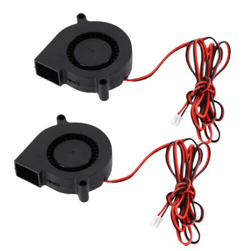 2Pcs Ultra-quiet 12V 0.13A 50mm Blower Turbo Fan 5015 Cooling for 3D Printer