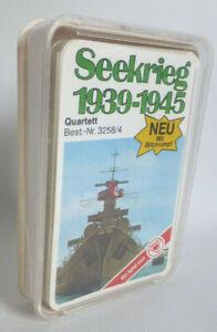 """Gut erhaltenes Quartett ASS Blitz-Trumpf """"Seekrieg 1939 - 1945"""" Nr. 3258/4"""