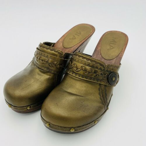 Vintage Green Rodeo Wooden Krone Clogs
