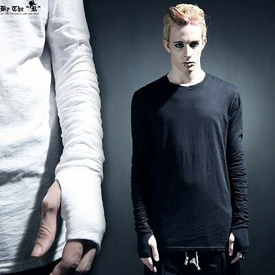 ByTheR Men's Shirred Hand Warmer Unblanced Long T-shirts P000BFFF
