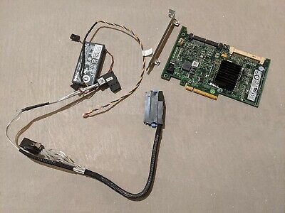 DELL POWEREDGE R410 SERVER PERC 6I PCI SAS SATA RAID KIT BATTERY CABLE Y180K QTY