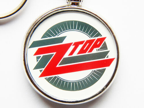 ZZ TOP Classic American Rock Band Chrome Keyring Picture Both Sides