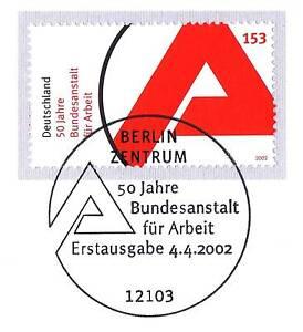 à Condition De Rfa 2002: Office Fédéral Du Travail Nr 2249! De Berlin Ersttags-cachet Spécial! 1a!-rstempel! 1a!fr-fr Afficher Le Titre D'origine RéTréCissable