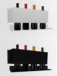 Cantinetta portabottiglie acciaio per vino espositore da parete tanti colori ebay - Portabottiglie a parete ...