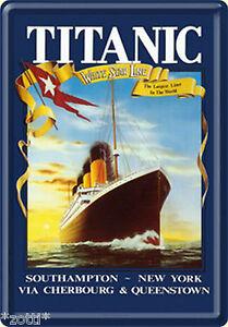 Nostalgic Art Titanic White Star Line Southampton New York *