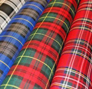 Polyviscose de tela de tartán-Royal Stewart tartán precio por 1m 150 cm de ancho